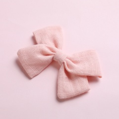 Simple Bow Hairpin Hairclip Multicolor Headwear Pink