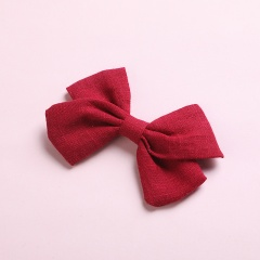 Simple Bow Hairpin Hairclip Multicolor Headwear Red