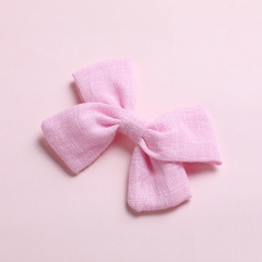 Simple Bow Hairpin Hairclip Multicolor Headwear Baby Pink