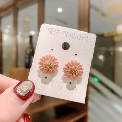 Wholesale Fashion Daisy Petal Stud Earrings Pink