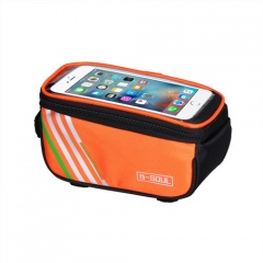 Bicycle Mobile Phone Bag Front Beam Bag Riding Equipment Accessories Orange