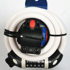 Mountain Bike Five-digit Code Lock Riding Equipment Accessories White