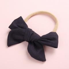 Simple Pure Color Handmade Girl's Cute Hair Rope Wholesale Black