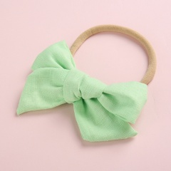 Simple Pure Color Handmade Girl's Cute Hair Rope Wholesale Light green