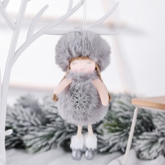 Plush Angel Christmas Decoration Pendant Christmas Tree Decoration Gray-Snow