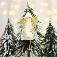 Lace Angel Christmas Pendant Christmas Tree Decoration Gold-Tree