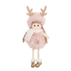 Plush Angel Cute Plush Doll Christmas Tree Decoration Pink-snow