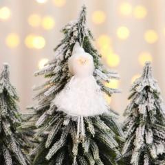 Christmas Tree Ornament Feather Snowman Elk Angel Pendant Old man