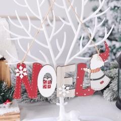 Santa Claus Letter Card Christmas Ornaments NOEL