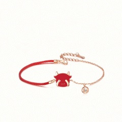 Christmas Series Red Rope Elk Gold Chain Bracelet Wholesale C