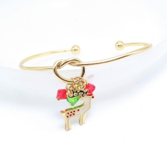 Christmas Tree Pendant Gold Open Bangle Wholesale Fawn