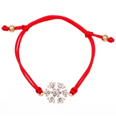 Green Red Rope Christmas Man Adjustable Bracelets Wholesale Snow