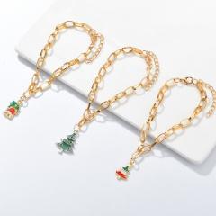 3 Pieces/Set Gold Chain Christmas Bracelet Set Wholesale Tree
