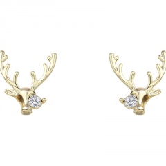 S925 Needle Christmas Series Elk Stud Earrings Jewelry Wholesale Elk-Gold