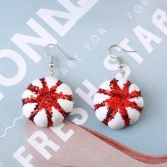 Christmas Style Dangle Sweet Red Earrings style 2