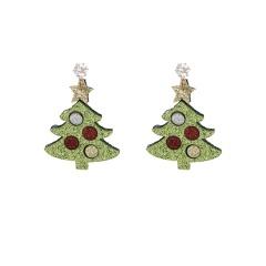 Christmas Series Gift Stud Dangle Earrings Tree