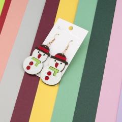 Christmas Series Gift Stud Dangle Earrings Snowman