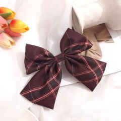 Girl's Simple Lattice Large Bow Hairpin Headwear Wholesale D