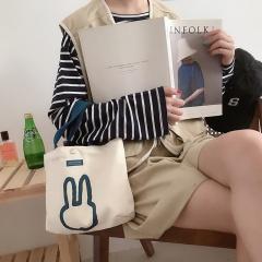 Simple Ducks Series Small Big Canvas Handbag Shoulder Bag Small-Rabbit1