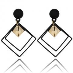 Korean Fashion Dangle Stud Earrings Jewelry Wholesale Black
