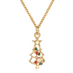 Wholesale Christmas Necklace Sweater Jewelry Gold Chain 52CM 11