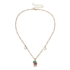 Christmas Colorful Bells Charm Necklace Jewelry Wholesale Bell