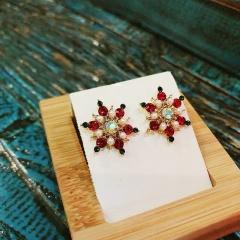 S925 Needle Christmas Series Elk Stud Earrings Jewelry Wholesale Snow