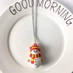 Cartoon Santa Claus Personality Childlike Necklace Snowman