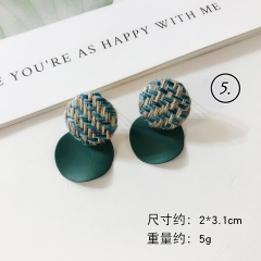 Green Series Flower Dangle Elegant Earring Jewelry Wholesale #5