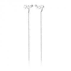 Silver Long Chain Fashion Women's Earring Jewelry Star
