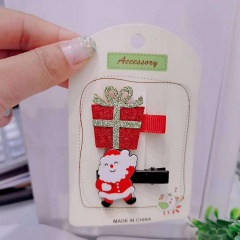 2 Pieces/Set Christmas Series Children's Hairpins Hairclip Wholesale Gift & Santa Claus