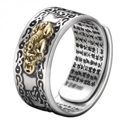 Pixiu Retro Mantra Ring Adjustable Wholesale A