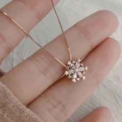 Silver Fashion Gemstone Star Chain Necklace Wholesale Snow