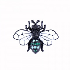 Cartoon Bee Painting Oil Small Insect Pin Brooches White
