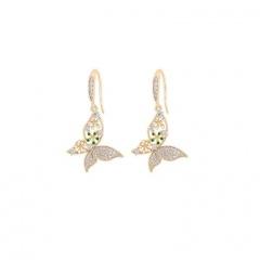 Gold Butterfly Series Long Chain Earrings Jewelry Butterfly