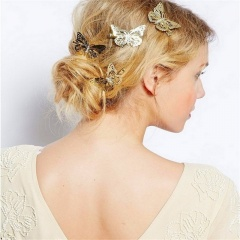 6 Pieces/Set Gold Butterlfy Headwear Wholesale Butterfly