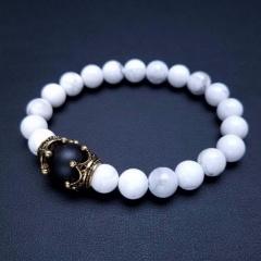 Natural Stone Bracelet Stretch Beads Bangle Fashion Jewellery Style 6