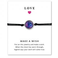 Love Star Time Gemstone Woven Card Bracelet Style 1