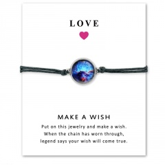 Love Star Time Gemstone Woven Card Bracelet Style 2
