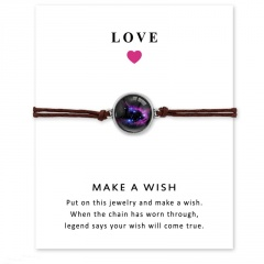 Love Star Time Gemstone Woven Card Bracelet Style 4
