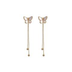 Colorful Tassel Long Butterfly Earrings for Women style 3