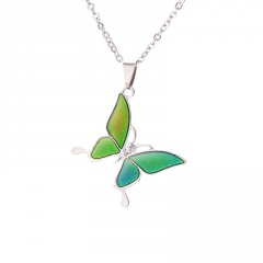 Thermochromic Butterfly Sweater Chain Necklace butterfly