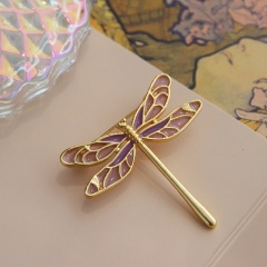 Gold Fashion Dragonfly Flower Brooches Pins Wholesale dragonfly