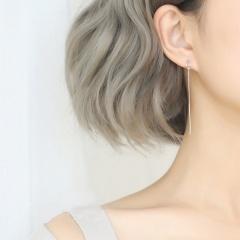 Simple Silver Long Chain Dangle Earring for Women chain