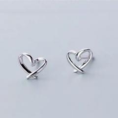 Fashion Silver Heart Stud Earrings Wholesale heart