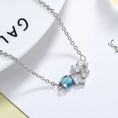 Fashion Blue Crystal Earth Chain Bracelet for Women style 1