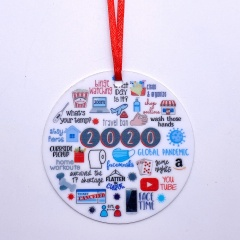 2020 Memoirs Acrylic Christmas Tree Hanging Ornament style 1
