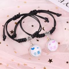 2 Pieces/Set Couple Rope Adjustable Bracelets Wholesale style 10