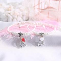 2 Pieces/Set Couple Rope Adjustable Bracelets Wholesale style 12