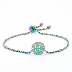 Stainless Steel LOVE Chain Bracelets Wholesale LOVE